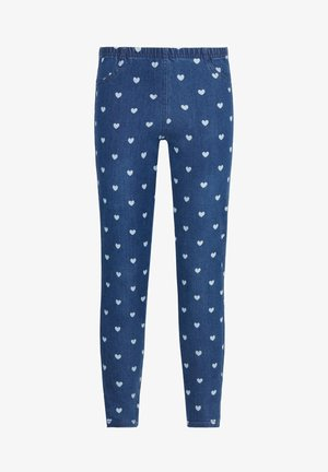 MIT HERZPRINT - Jeggings - blue