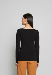 Anna Field Tall - BASIC LONG SLEEVE TOP - Bluzka z długim rękawem - black - 2
