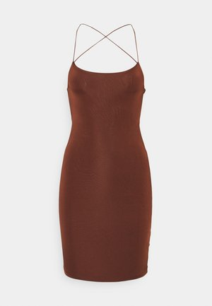 SEXY DRESS - Shift dress - brown