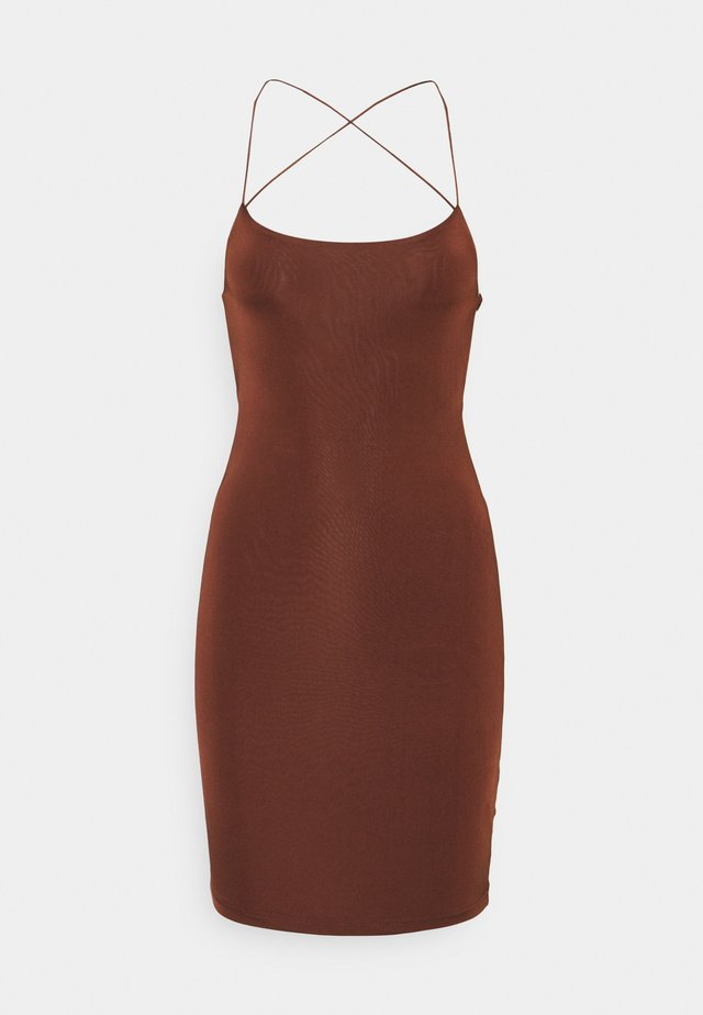 SEXY DRESS - Fodralklänning - brown