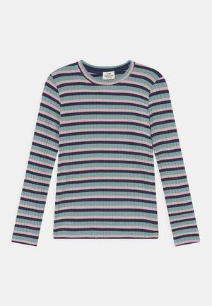 STRIPE TALIKA UNISEX - Langærmede T-shirts - aqua/pink/navy