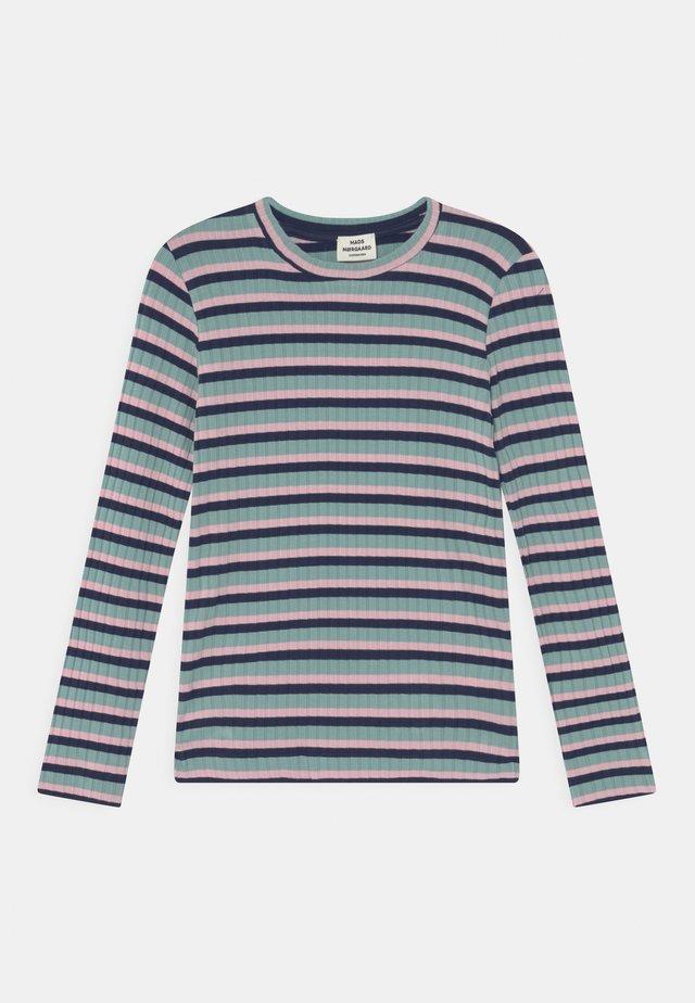 STRIPE TALIKA UNISEX - Long sleeved top - aqua/pink/navy