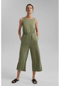 Esprit - CULOTTE - Trousers - light khaki - 1