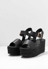 Topshop - DOVE WEDGE - Platform sandals - black - 2