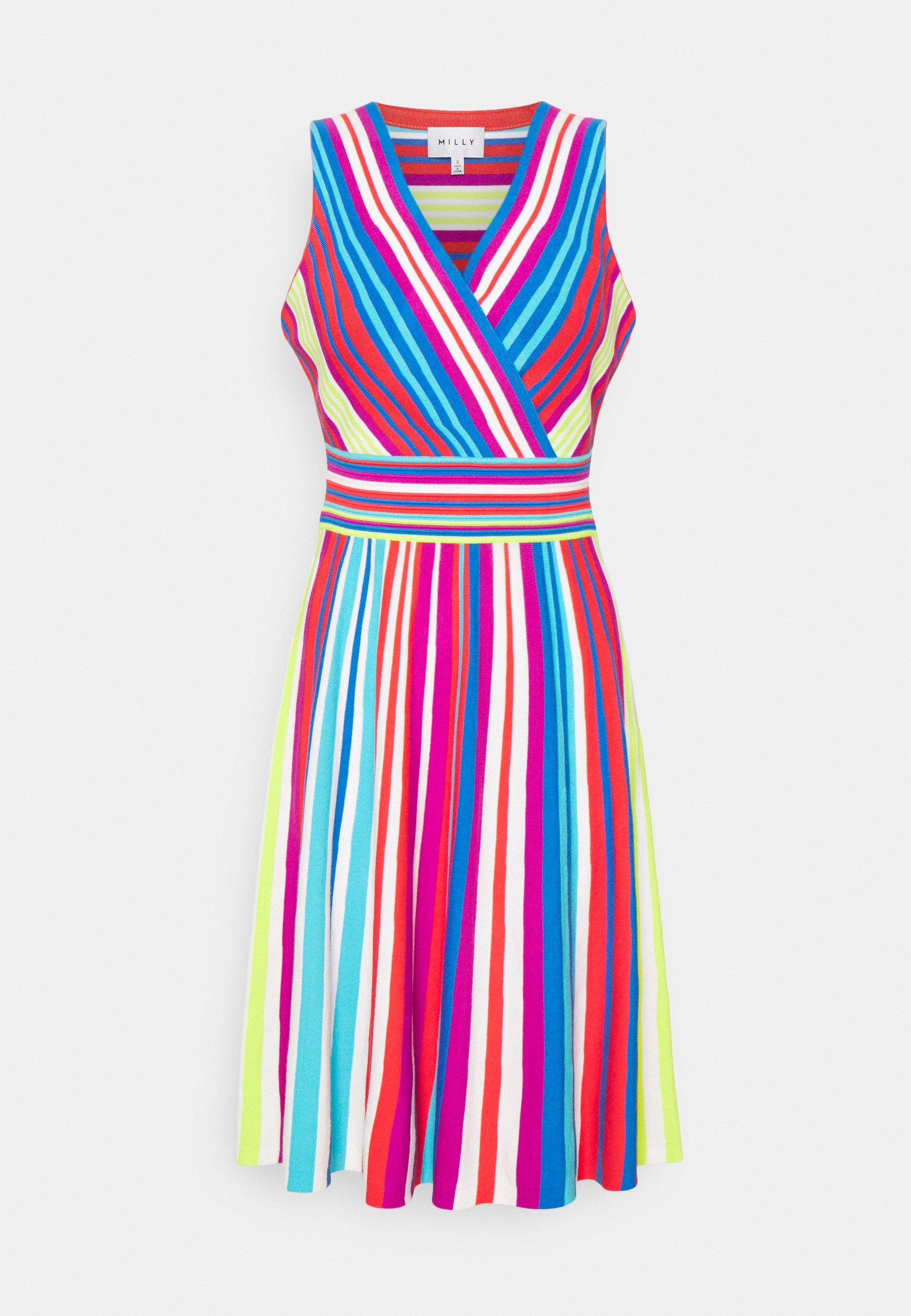 Women STRIPE SURPLICE DRESS - Jumper dress