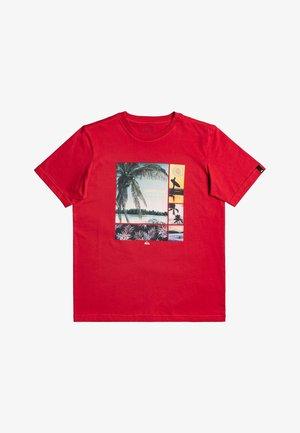 HIDDEN COVE - Print T-shirt - american red