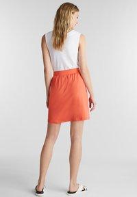 Esprit - SKIRT - Mini skirt - coral - 2