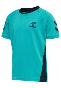 Hummel - ACTION  - Print T-shirt - bluebird/dark sapphire - 1