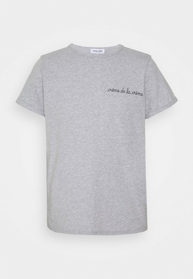 CLASSIC TEE CREME DE LA CREME - Print T-shirt - light heather grey