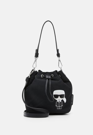 IKONIK BUCKET - Across body bag - black