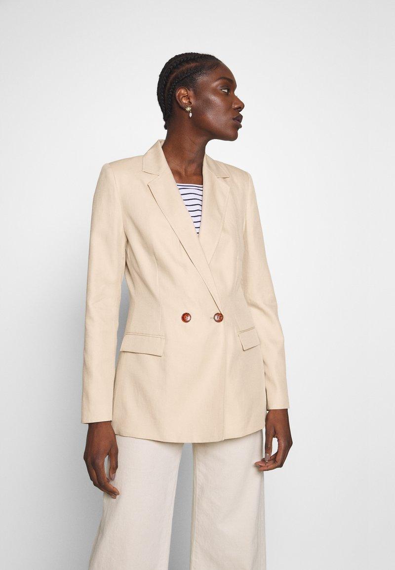 NAF NAF - EHILDA - Krátký kabát - lin