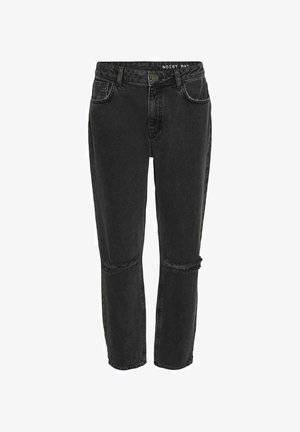 HIGH WAIST  - Relaxed fit jeans - dark grey denim