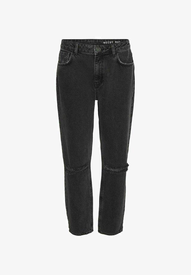 HIGH WAIST  - Relaxed fit jeans - dark grey denim