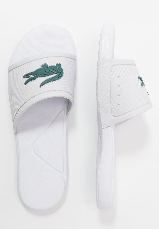 L.30 - Sandales de bain - white/green