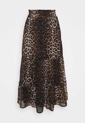 ONLLEA MIDI SKIRT  - A-line skirt - black/brown
