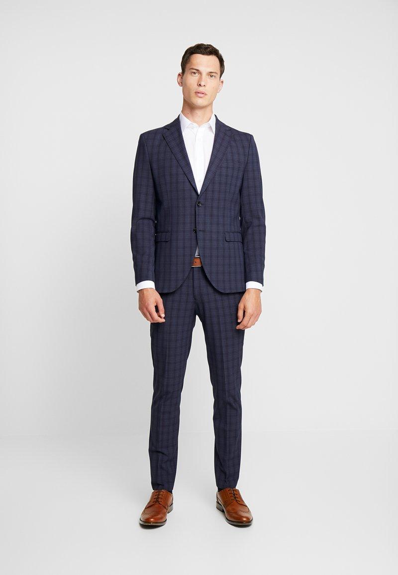 Selected Homme - SLHSLIM MYLOLOGAN SUIT - Oblek - navy blue/grey
