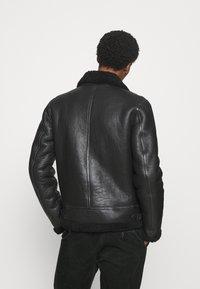 Goosecraft - LAMMY - Kožená bunda - black - 2