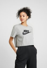 Nike Sportswear - TEE - Triko s potiskem - grey heather/black - 0