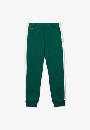 Trousers - vert / blanc