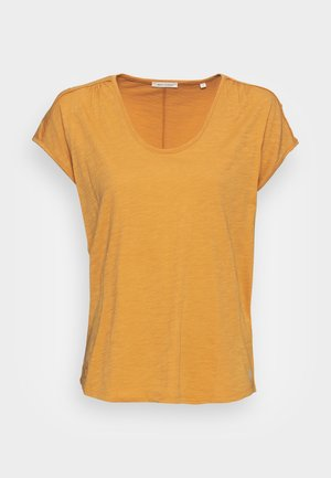 SHORT-SLEEVE DEEP ROUND-NECK - T-shirts - sweet corn
