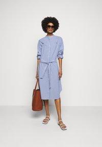 Maison Labiche - DRESS GOOD VIBE - Shirt dress - white/blue - 1