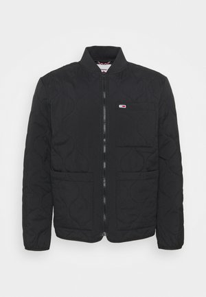 QUILTED LINER JACKET - Bombejakke - black