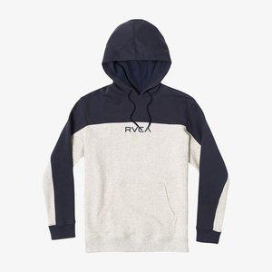 Zip-up sweatshirt - grey melange / blue