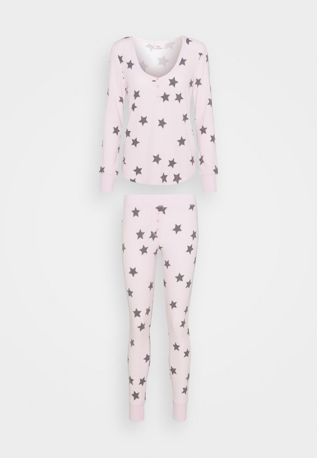 STAR PRINT HENLEY AND LEGGING SET - Pyjama - pink mix