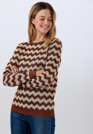 SWEATER ALEX MOLTEN ZIG ZAG - Sweatshirt - cream