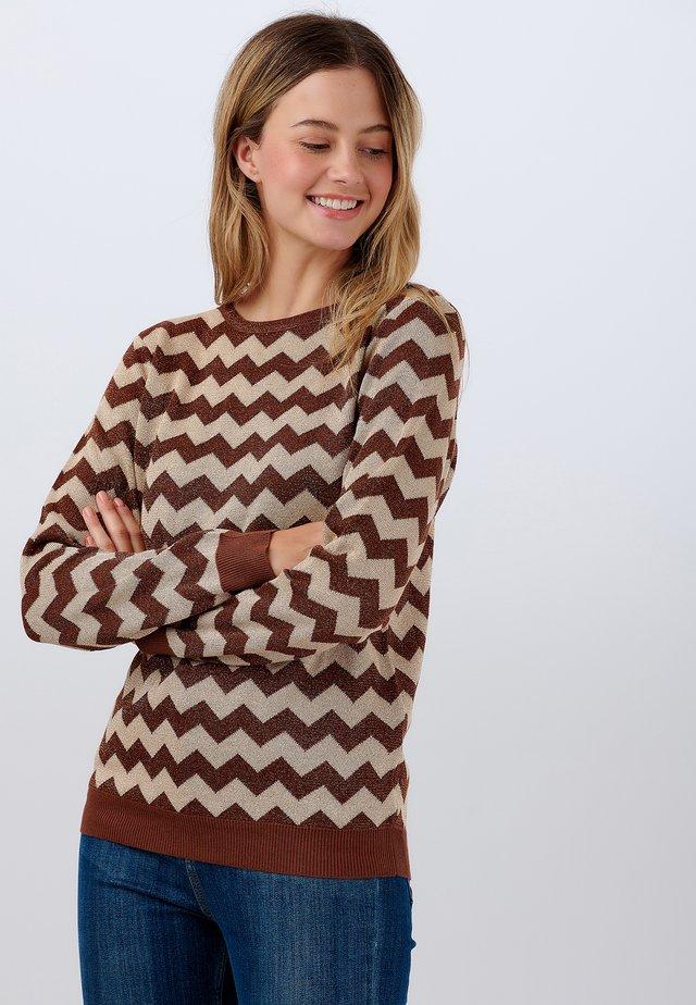 SWEATER ALEX MOLTEN ZIG ZAG - Sweater - cream
