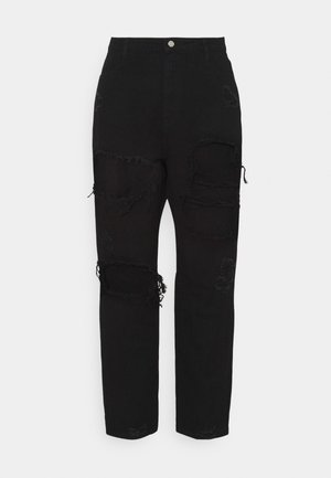 PLUS RIOT RIPPED MOM - Jeans baggy - black
