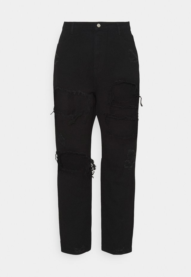 PLUS RIOT RIPPED MOM - Relaxed fit jeans - black