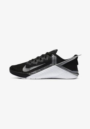 METCON 6 FLYEASE - Gym- & träningskor - black/metallic silver/white/metallic silver