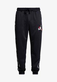 Jordan - M J JM CLSCS TRICOT WRMP PANT - Teplákové kalhoty - black/gym red/white - 3