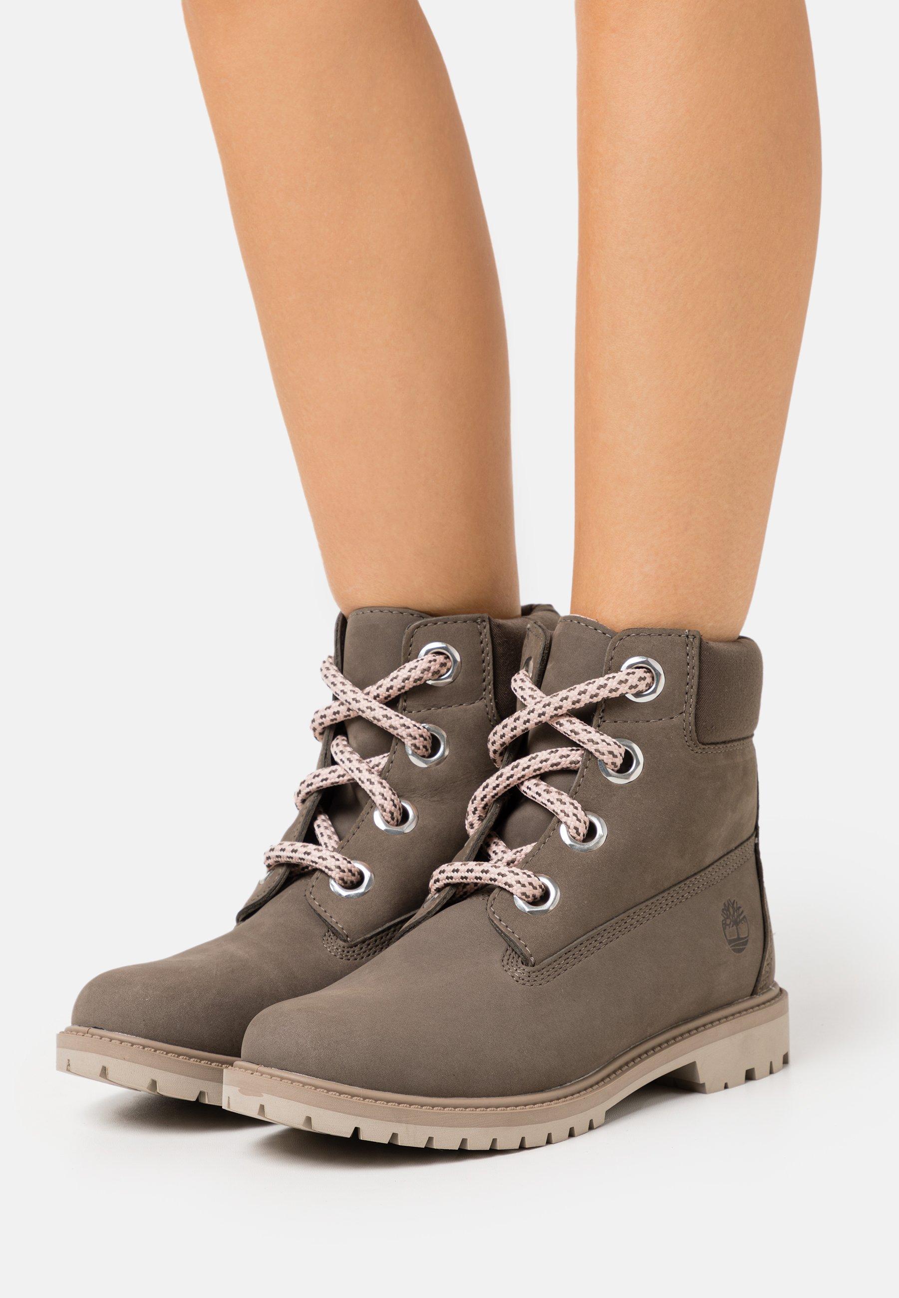 falda Oxidado País  Timberland CONVENIENCE LACE BOOT - Lace-up ankle boots - olive/olive -  Zalando.de
