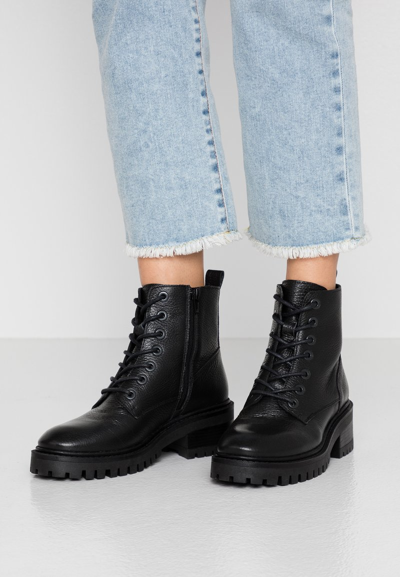 Zign - Lace-up ankle boots - black