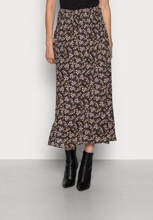 ILUNA RIKKELIE SKIRT - Pouzdrová sukně - black