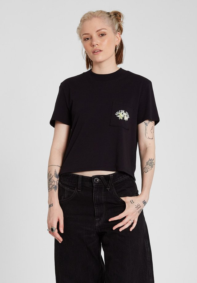 POCKET DIAL TEE - T-shirt imprimé - black