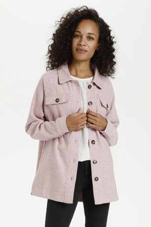 KATALIA  - Summer jacket - pink / chalk houndstooth