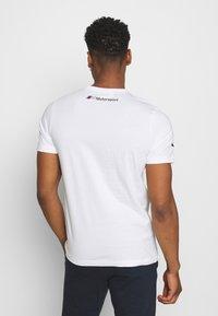 Puma - BMW VINTAGE TEE - Print T-shirt - white - 2