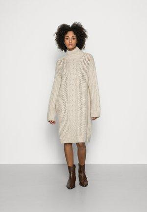 DRESS - Jumper dress - chalky sand melange
