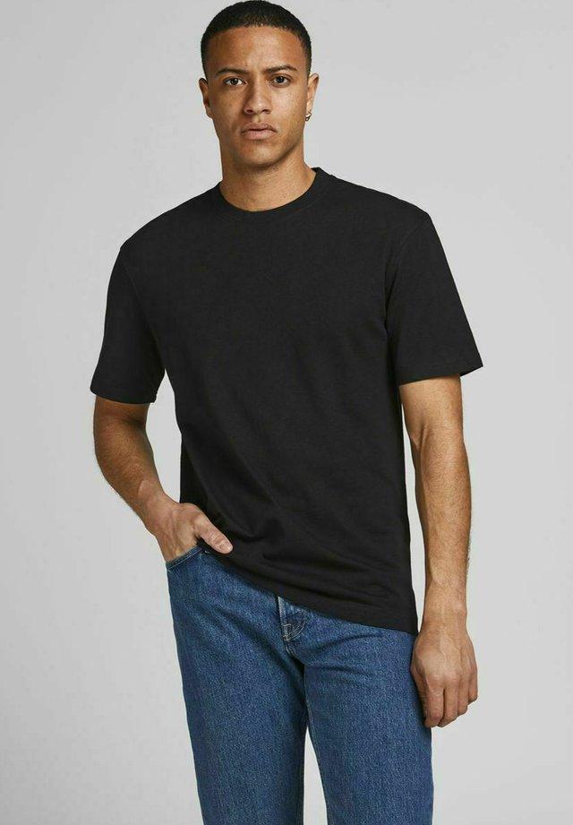 JJERELAXED TEE O-NECK - Basic T-shirt - black