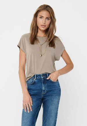 Basic T-shirt - taupe gray