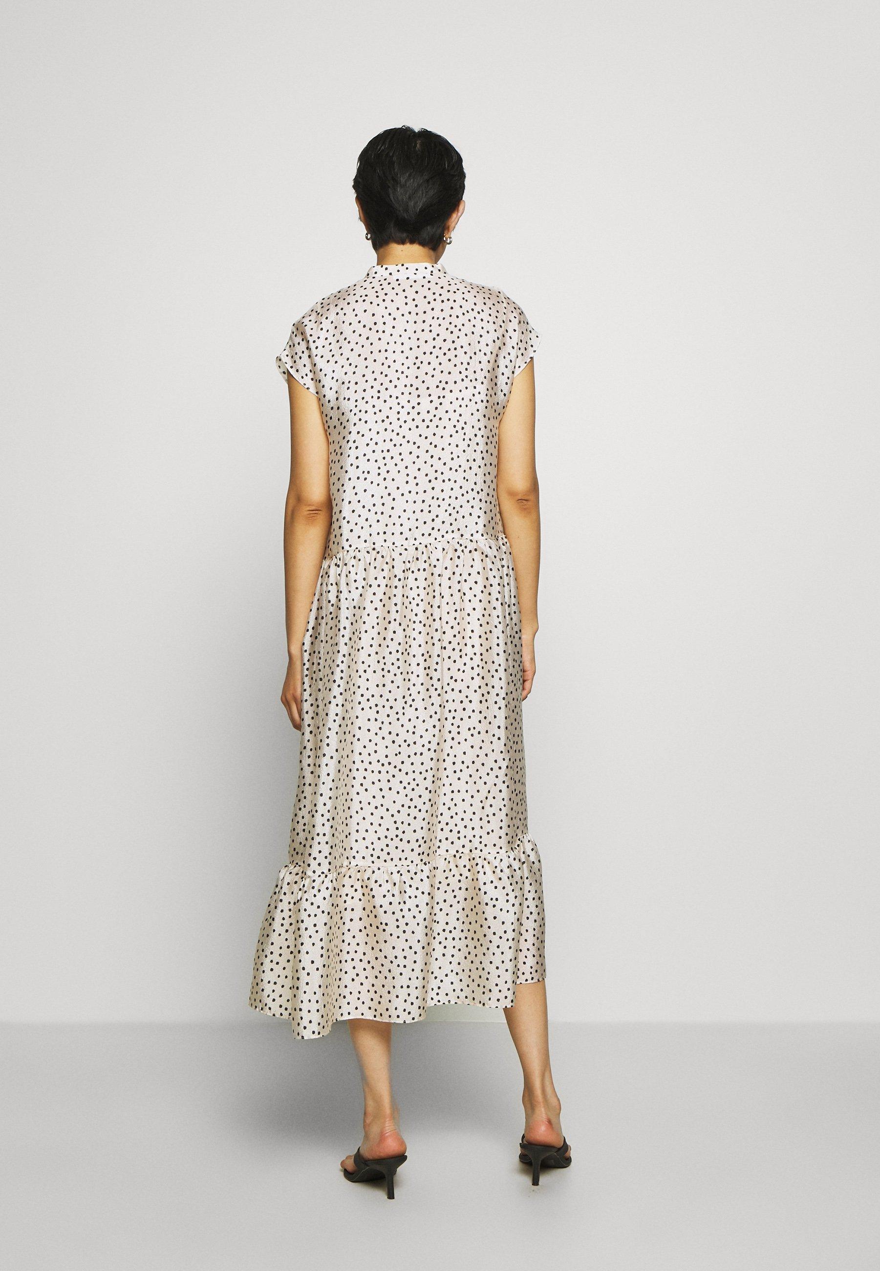 Samsøe Samsøe MARGO LONG DRESS  Maxikleid offwhite/black/offwhite