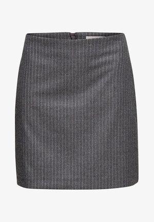 MIT NADELSTREIFEN - A-line skirt - gunmetal