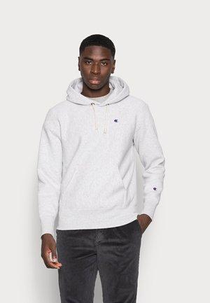 HOODED - Sweater - mottled light grey