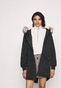 ONLY - ONLSELINE QUILTED - Parka - black - 0