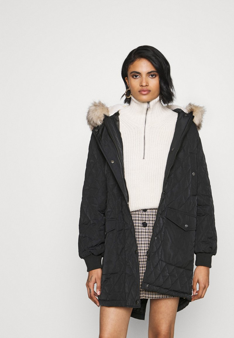 ONLY - ONLSELINE QUILTED - Parka - black