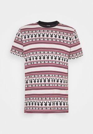 PLAYBOY STRIPE - T-shirt con stampa - burgundy