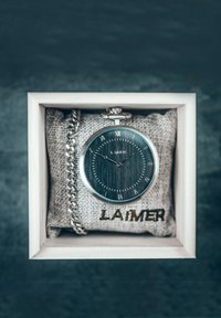 LAIMER - LAIMER QUARZ HOLZUHR - ANALOGE TASCHENUHR SANDELHOLZ - Watch - silver - 4